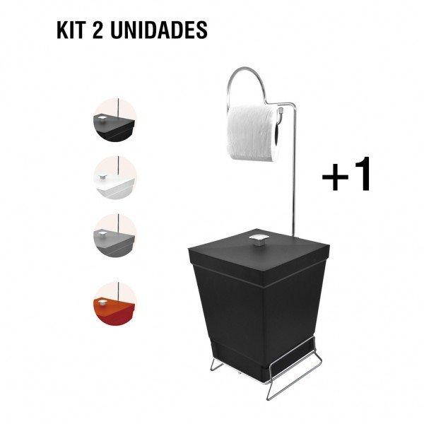frente kit 2 lixeiras suporte de papel higienico 9401principal