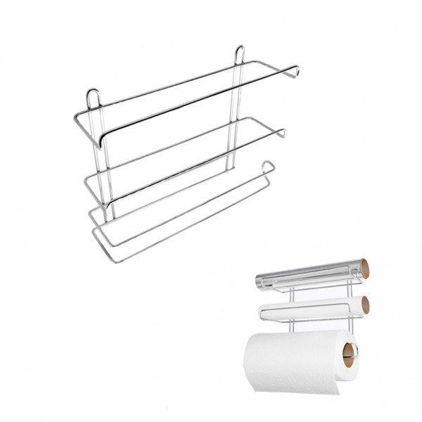 frente suporte triplo para rolos papel aluminio filme 6601