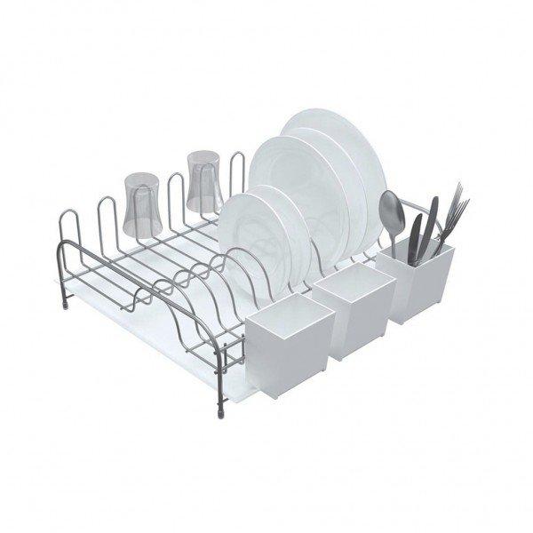 Frente-Escorredor-de-Louça-com-Bandeja-e-Porta-Talheres-de-Plástico-Stolf-B